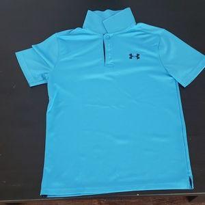 Boys Blue Under Armour Collared Shirt